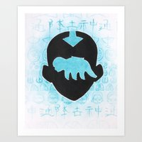 the last airbender Art Prints featuring The Last Airbender by Carmen McCormick
