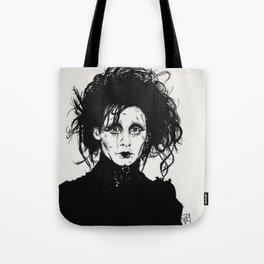 Ed Scissorhands Sketch Tote Bag
