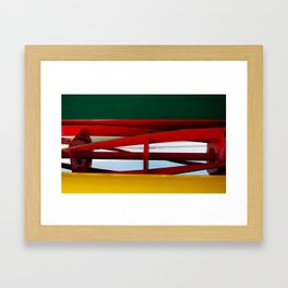 """tricolor lawnmower """"flag"""" abstract Framed Art Print"""