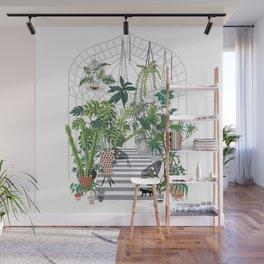 greenhouse illustration Wall Mural