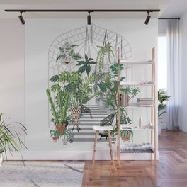 greenhouse illustration Wall Mural