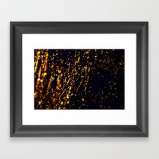 The golden tree Framed Art Print