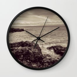 Limeslade Bay Gower Peninsula Toned Wall Clock