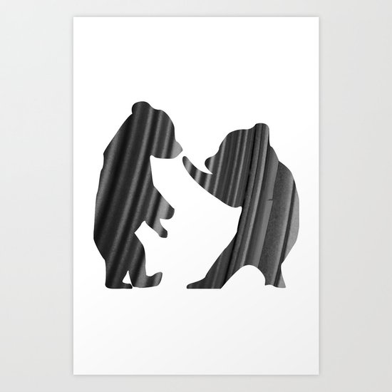 Cubs (The Living Things Series) Art Print