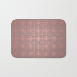 Tin circles on shiny marsala pattern Bath Mat