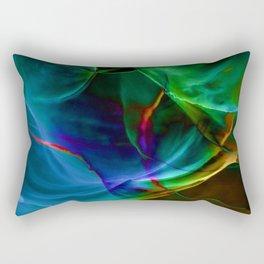 Aurora Blue Rectangular Pillow