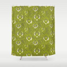 Tigers in Green Shower Curtain