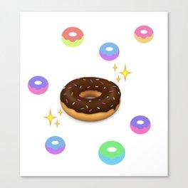 donut alien sustinence Canvas Print