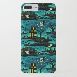 Halloween Night - Fox Fire Green iPhone Case