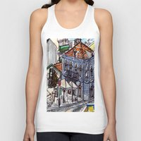 portugal Tank Tops featuring Buarcos, Portugal by Claire Nelson-Esch