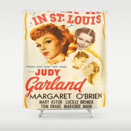 Vintage poster - Meet Me in St. Louis Shower Curtain
