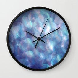 Blue Bubbles Wall Clock