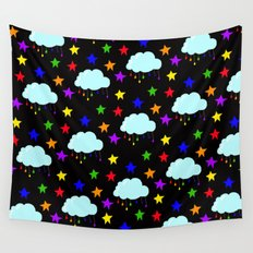 I wish it could rain colors Wall Tapestry