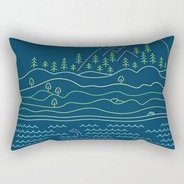 Outdoor solitude - line art Rectangular Pillow