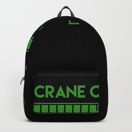 Crane Operator Loading Backpack