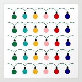 Christmas Light Art Print