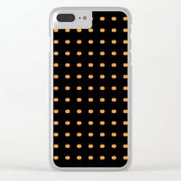Halloween Pumpkins Clear iPhone Case