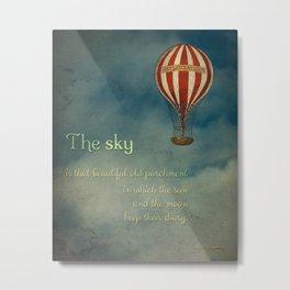 The Sky Metal Print