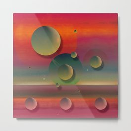 """""""Pastel planets Fantasy Sci-fi"""" Metal Print"""