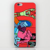 hotline miami iPhone & iPod Skins featuring HOTLINE. by Dave Bell