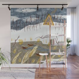 A-Frame Home in the Woods Wall Mural