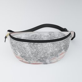 Pink Marble & Silver Glitter Fanny Pack