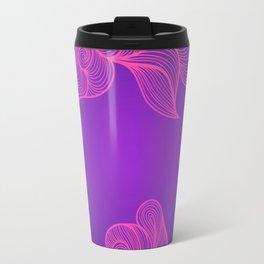 Heat Wave II colorful illustrated abstract waves Travel Mug