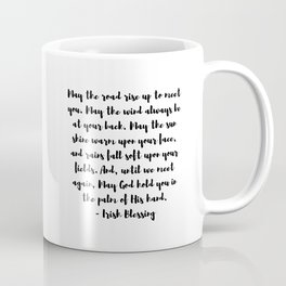 Irish Blessing May The Road Rise Up To Meet You Coffee Mug