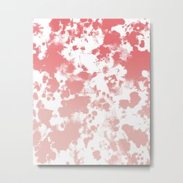 Modern ombre pink painting fade trendy basic home decor by charlotte winter Metal Print