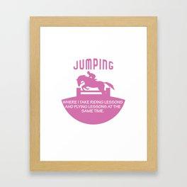 Jumping Equestrian Animal Horse Lovers Shirt Framed Art Print