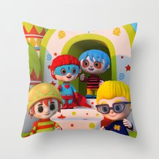 Turtle Boy's Gang Throw Pillow