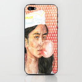 Bubblegum Girl iPhone Skin