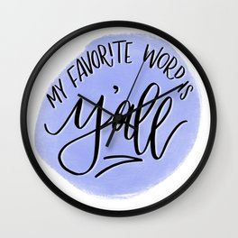 Y'all - Bluebonnet Wall Clock