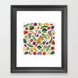 Raw food Framed Art Print