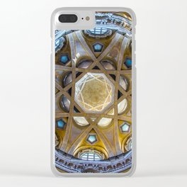Dome of the church, Turin, Italy Clear iPhone Case