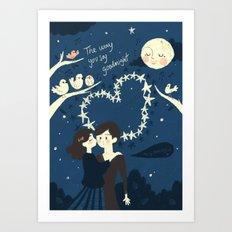 The way you say goodnight. Art Print