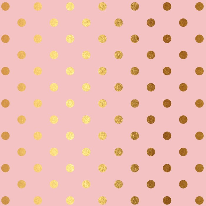 Gold Polka Dots On Rose Gold Background Luxury Pink