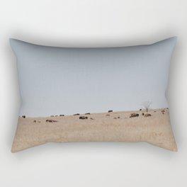 Bison on the Tallgrass Rectangular Pillow