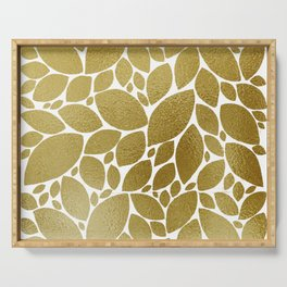 GOLD LEAVES Serving Tray