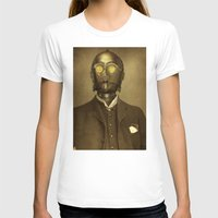 steampunk T-shirts featuring Baron Von Three PO  by Terry Fan