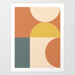 Abstract Geometric 04 Art Print