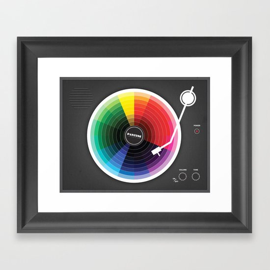 Pantune - The Color of Sound Framed Art Print