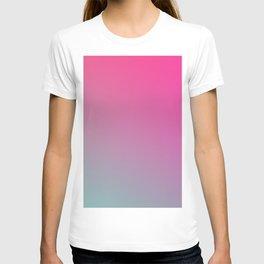 TOXIC FUMES - Minimal Plain Soft Mood Color Blend Prints T-shirt
