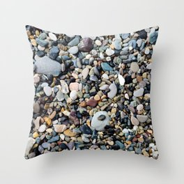 Background from sea stones for design Throw Pillow