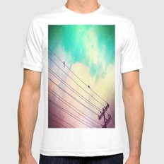 Come Closer White MEDIUM Mens Fitted Tee