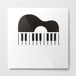 Gitar amd piano Metal Print