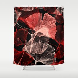 ginko biloba leaves Shower Curtain