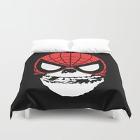 misfits Duvet Covers featuring Misfit Sense by Iamzombieteeth Clothing