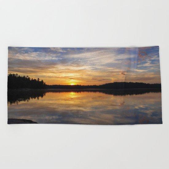 Minnesota Sunrise Beach Towel