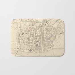 Vintage Map of Perth Scotland (1851) Bath Mat